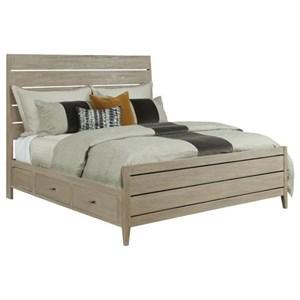 Incline Oak Queen High Bed