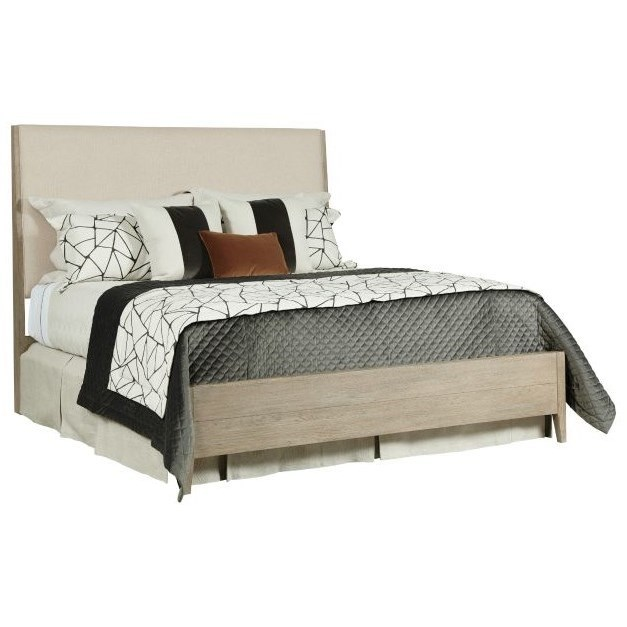 Symmetry Incline Queen Upholstered Bed by Kincaid Furniture at Home Collections Furniture