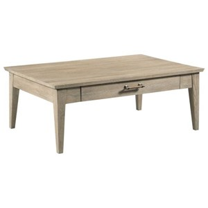 Contemporary Collins Solid Wood Coffee Table with Drawer