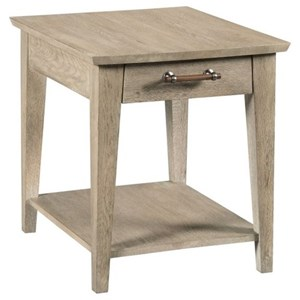 Contemporary Collins Solid Wood Side Table with Drawer