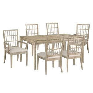 Dining Table, Side Chairs, Arm Chairs
