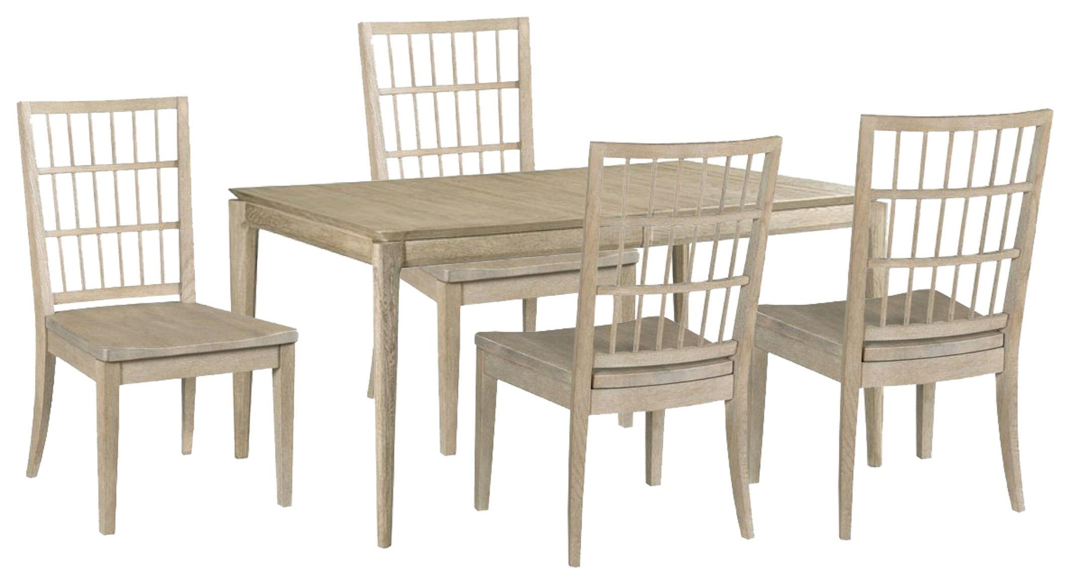 Symmetry Dining Table and Side Chairs by Kincaid Furniture at Johnny Janosik