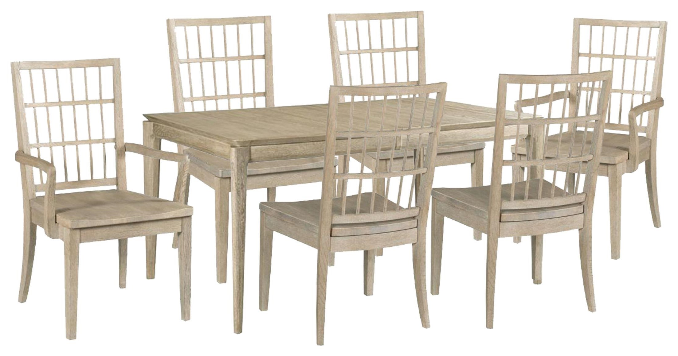 Symmetry Dining Table, Side Chairs, Arm Chairs by Kincaid Furniture at Johnny Janosik