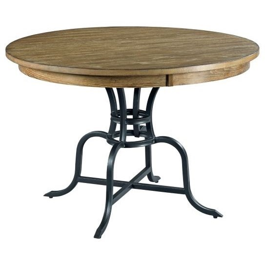 "The Nook 54"" Round Dining Table  w/ Metal Base by Kincaid Furniture at Johnny Janosik"