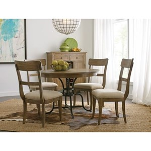 """54"""" Round Dining Table  w/ Metal Base"""