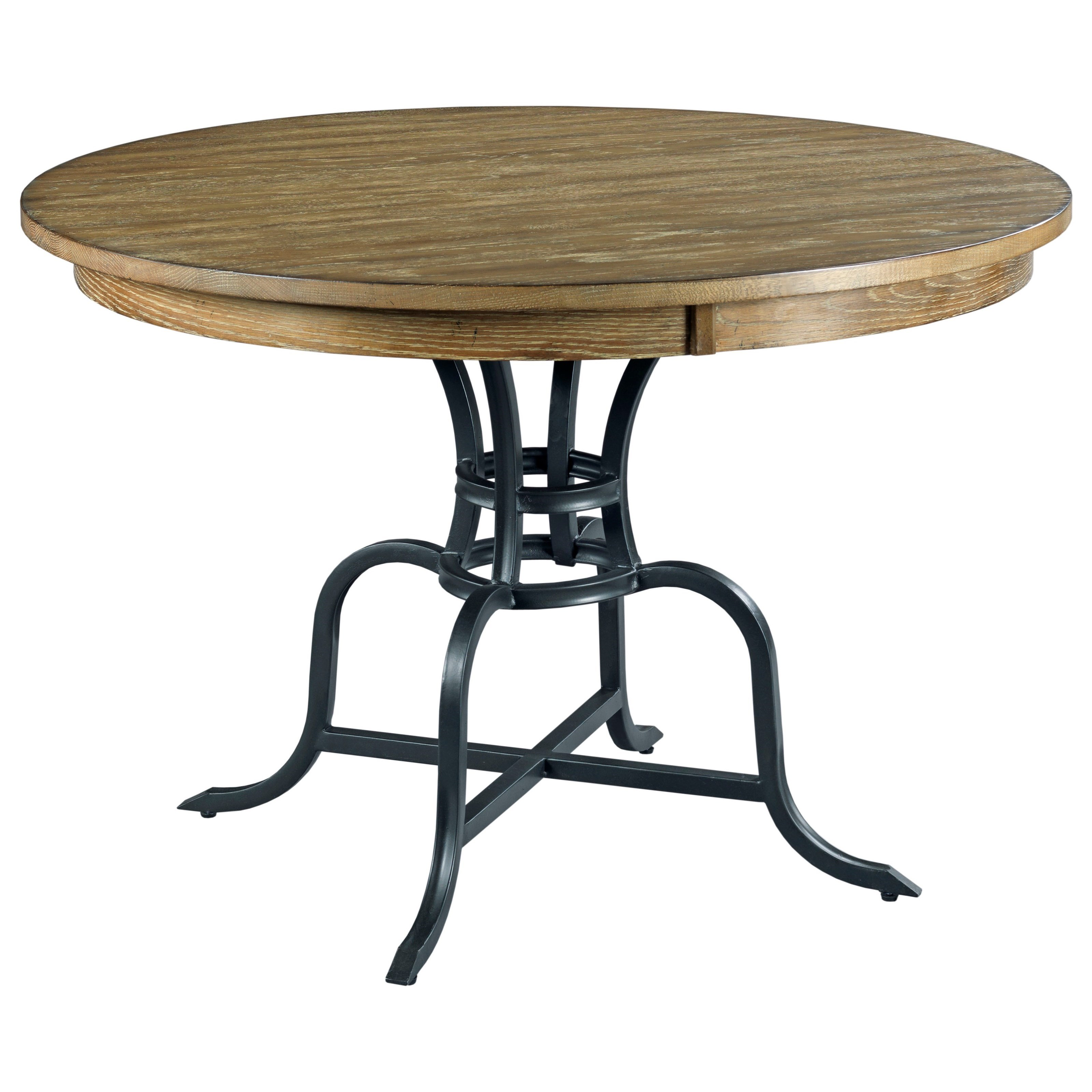 "The Nook 44"" Round Dining Table w/ Metal Base by Kincaid Furniture at Johnny Janosik"