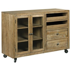Solid Wood Dining Room Server with Casters