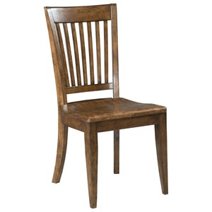 Solid Wood Slat Back Chair
