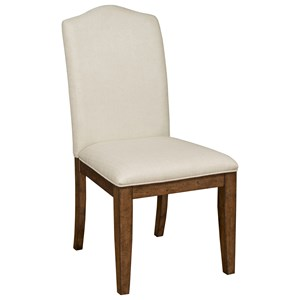 Parson's Style Side Chair with Performance Fabric Upholstery