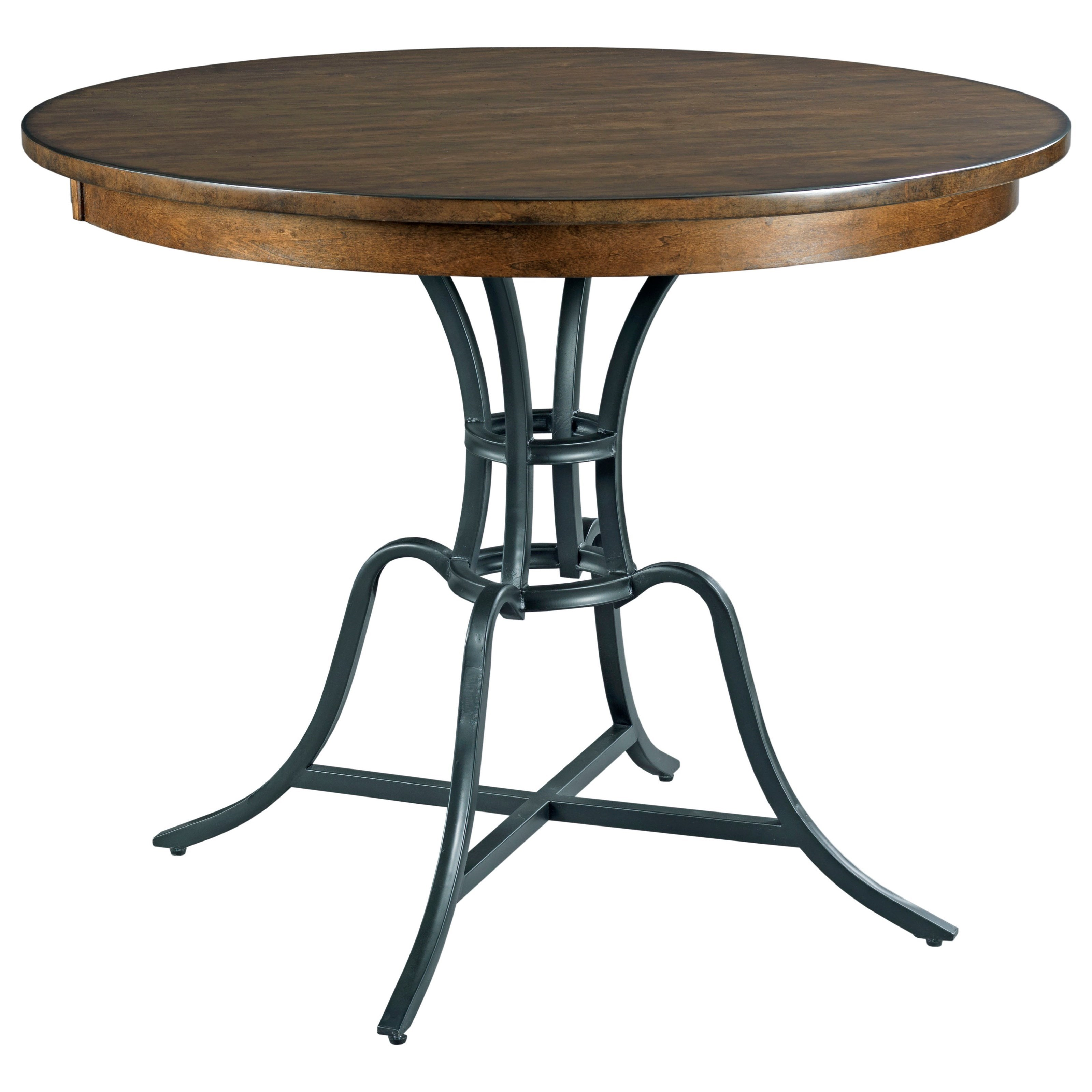 """The Nook 44"""" Round Counter Height Table w/ Metal Base by Kincaid Furniture at Northeast Factory Direct"""