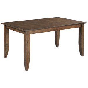"60"" Solid Wood Rectangular Table with Wood Legs"