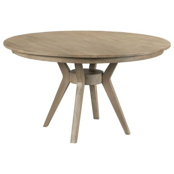 "The Nook 44"" Round Dining Table with Modern Wood Base by Kincaid Furniture at Northeast Factory Direct"
