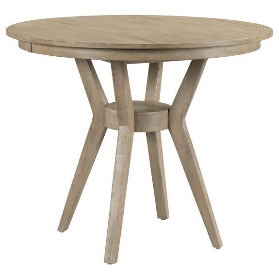 """The Nook 54"""" Round Counter Ht Dining Table w/ Modern  by Kincaid Furniture at Johnny Janosik"""