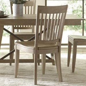 Solid Wood Slat Back Chair