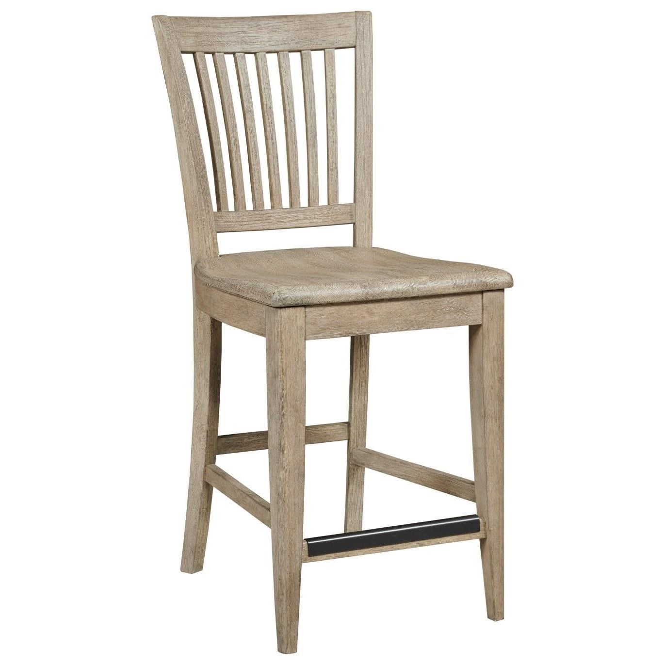 The Nook Counter Height Slat Back Chair by Kincaid Furniture at Northeast Factory Direct