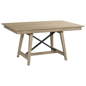 "60"" Solid Wood Trestle Table"
