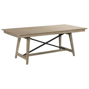 "80"" Solid Wood Trestle Table"