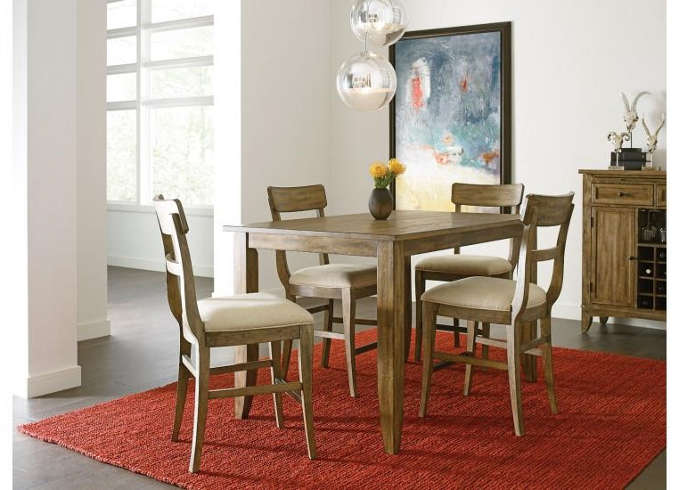 The Nook Counter Table and 4 Stools by Kincaid Furniture at Johnny Janosik