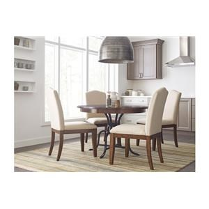 """44"""" Round Table and 4 Parsons Chair"""