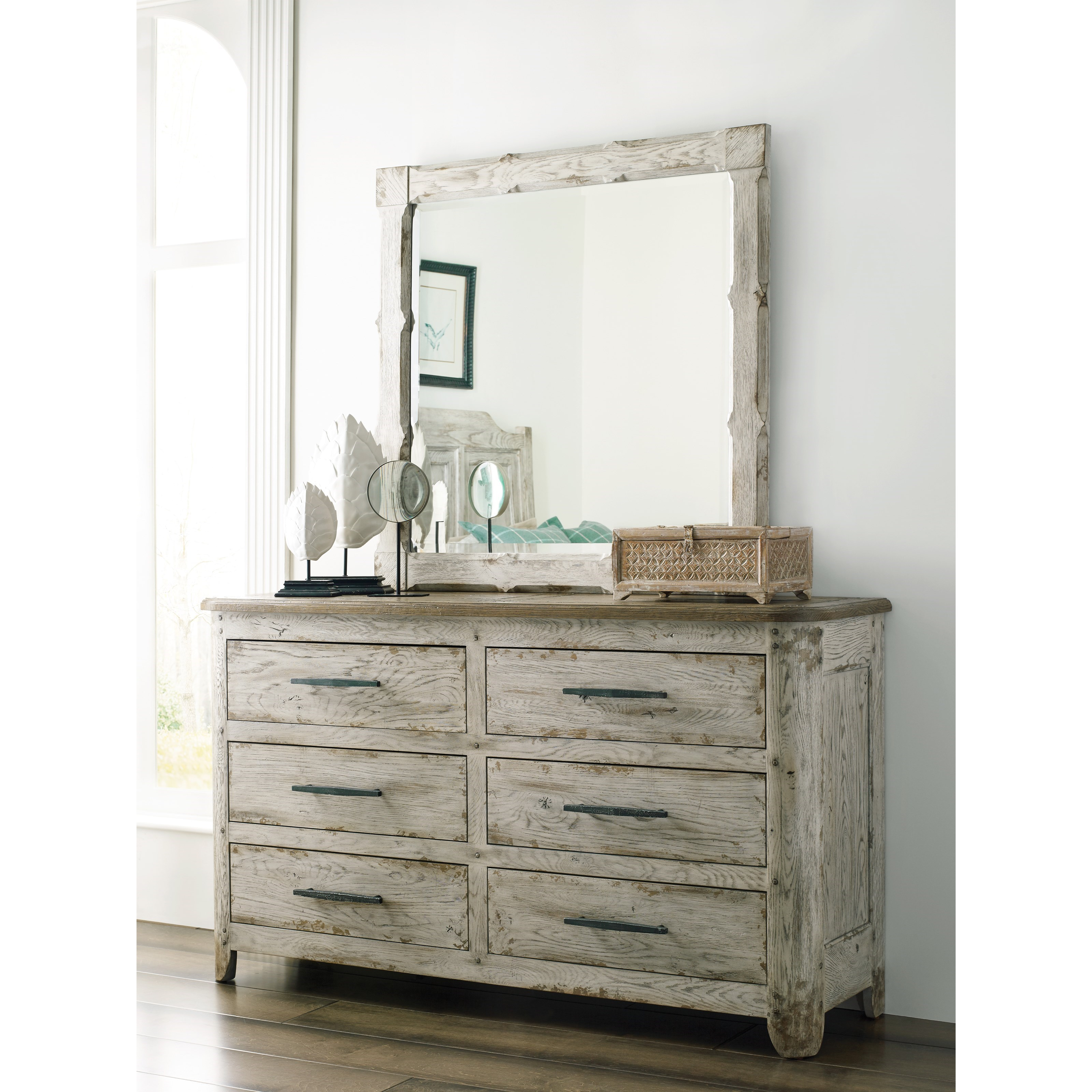 Trails Kennewick Dresser and Mirror Set by Kincaid Furniture at Johnny Janosik