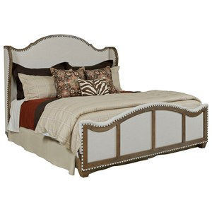 Crossnore King Upholstered Bed with Nailhead Trim