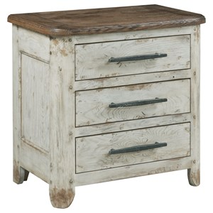 Dupont Three Drawer Nightstand with Electric Outlet