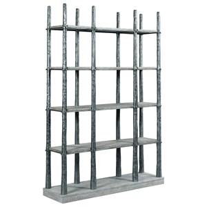 Glades Metal Frame Bookcase