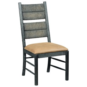 Cypress Side Chair with Leather Upholstered Seat
