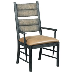Cypress Arm Chair with Upholstered Leather Seat