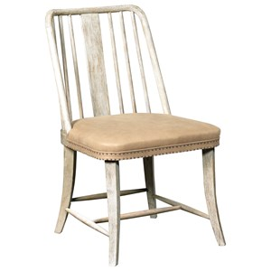 Madison Slat Back Side Chair with Nailhead Trim Accents
