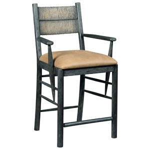 Cypress Counter Chair with Upholstered Leather Seat
