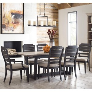 7-Piece Dining Set with Denali Two Tone Table