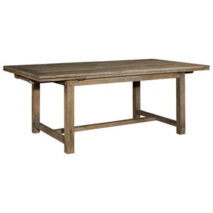 "Winston Refectory Trestle Table with Two 18"" Leaves"