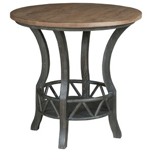 Pisgah Round Lamp Table with Two Tone Finish
