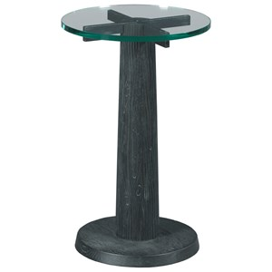 Pisgah Drink Table with Glass Top