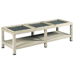 Elements Rectangular Coffee Table with Three Removable Tray Tops