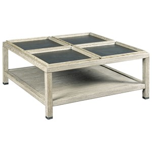 Elements Square Coffee Table with Four Removable Trays