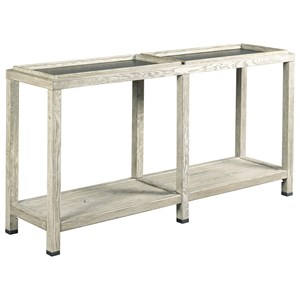 Elements Console Table with Two Removable Trays