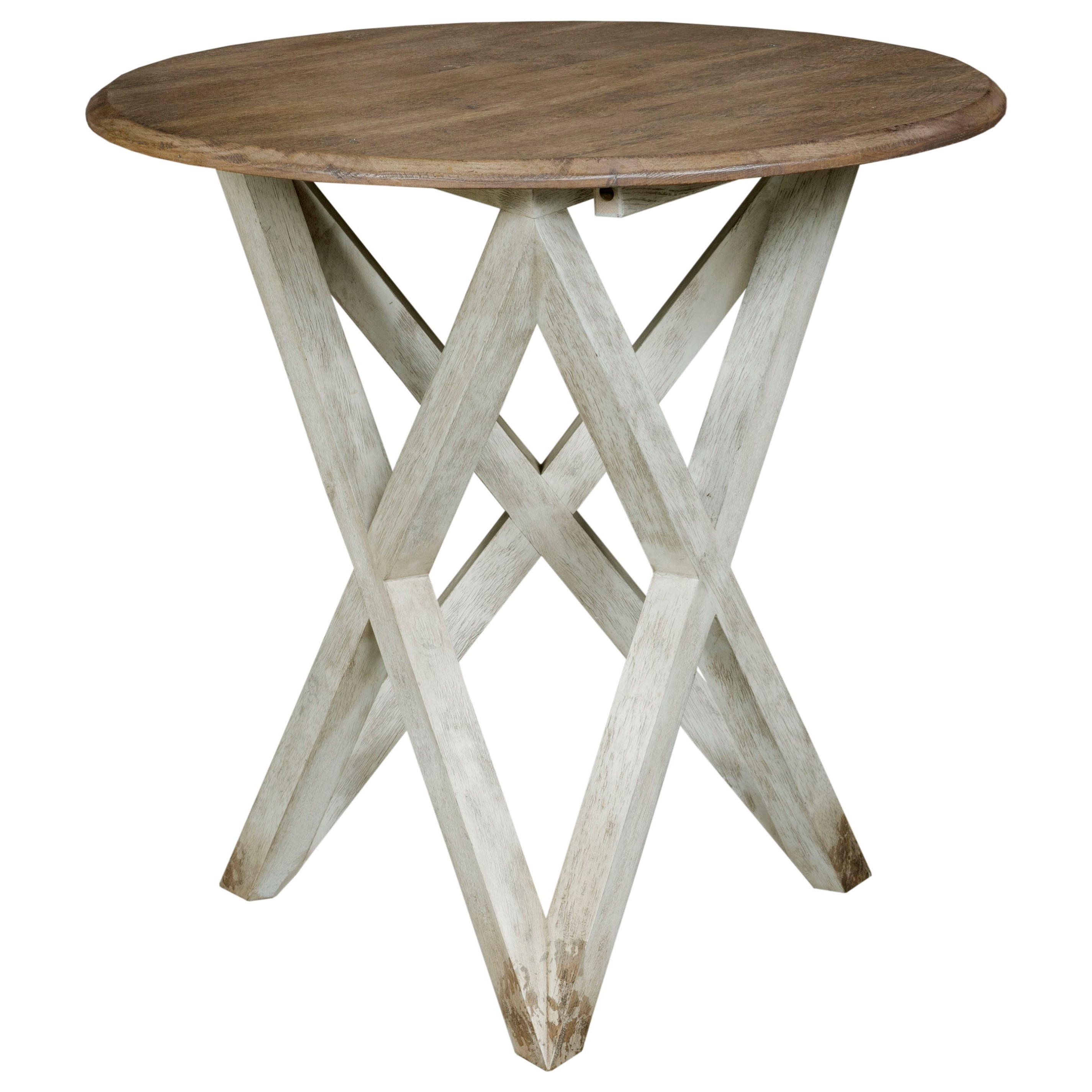 Trails Colton Round Lamp Table by Kincaid Furniture at Pedigo Furniture