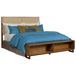 Patternmaker King Bed with Upholstered Headboard and Storage Footboard