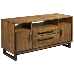 Shipwright Modern Craftsman TV Console with Electrical Outlet
