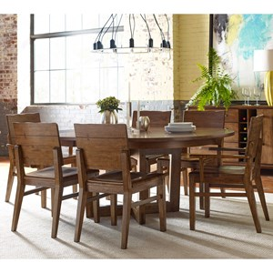 Seven Piece Dining Set with Blacksmith Table and Woodcrafter's Chairs