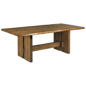 Cutler Live Edge Trestle Dining Table
