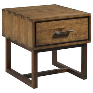 Woodworker Modern Craftsman End Table with Electrical Outlet