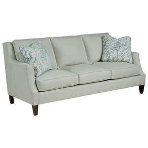 Vivian Sofa with Wooden Tapered Legs