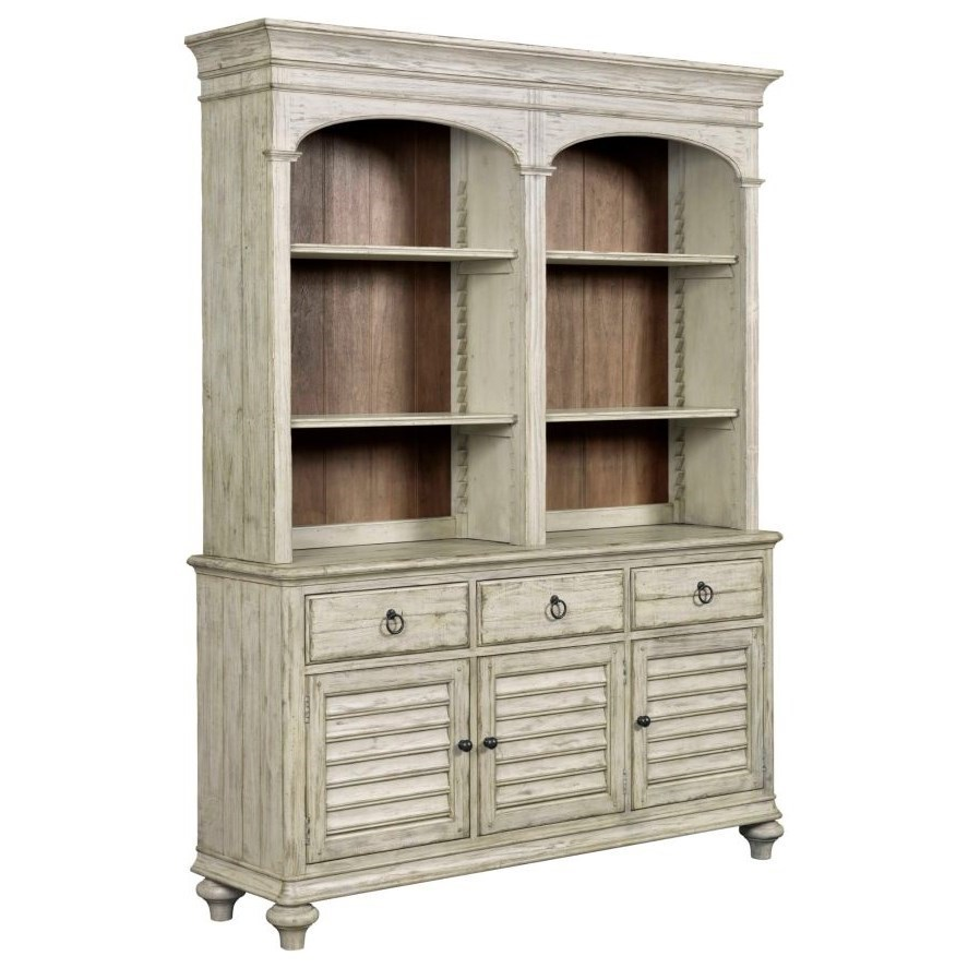 Weatherford Hastings Open Hutch and Buffet by Kincaid Furniture at Johnny Janosik