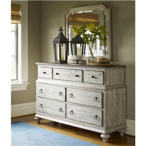 Kincaid Furniture Weatherford Dresser and Mirror Combo