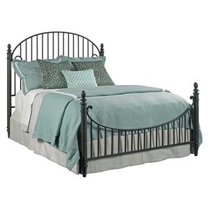 Catlins Metal King Bed Package with Metal Slat Headboard and Footboard