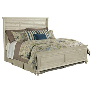 Shelter Queen Bed Package with Shutter-Style Headboard and Panel Footboard
