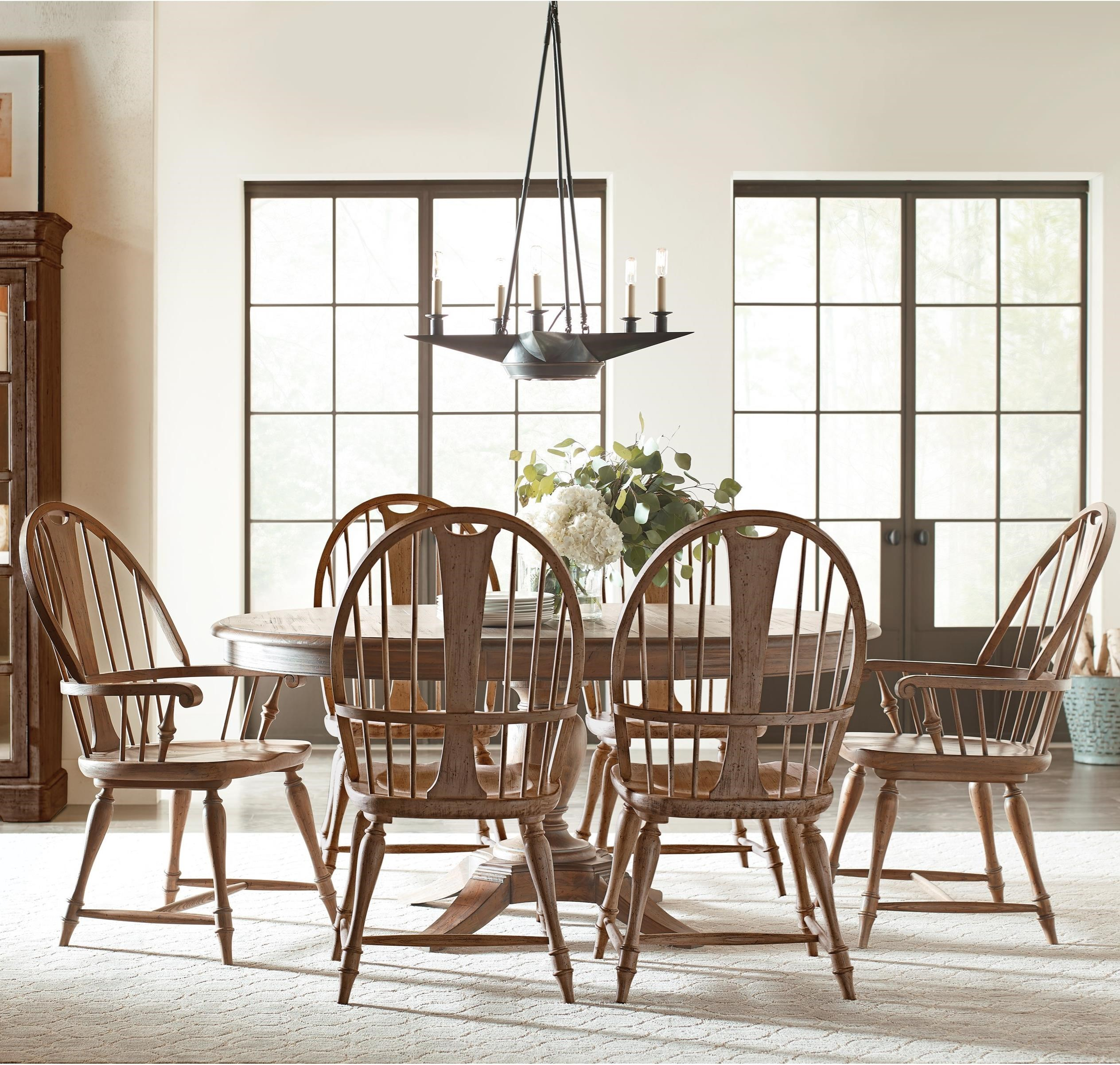 Weatherford 7-Piece Dining Set by Kincaid Furniture at Northeast Factory Direct